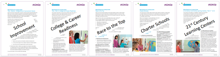 Mimio Funding Guides reduced