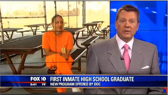First inmate high school graduate part of DOC program