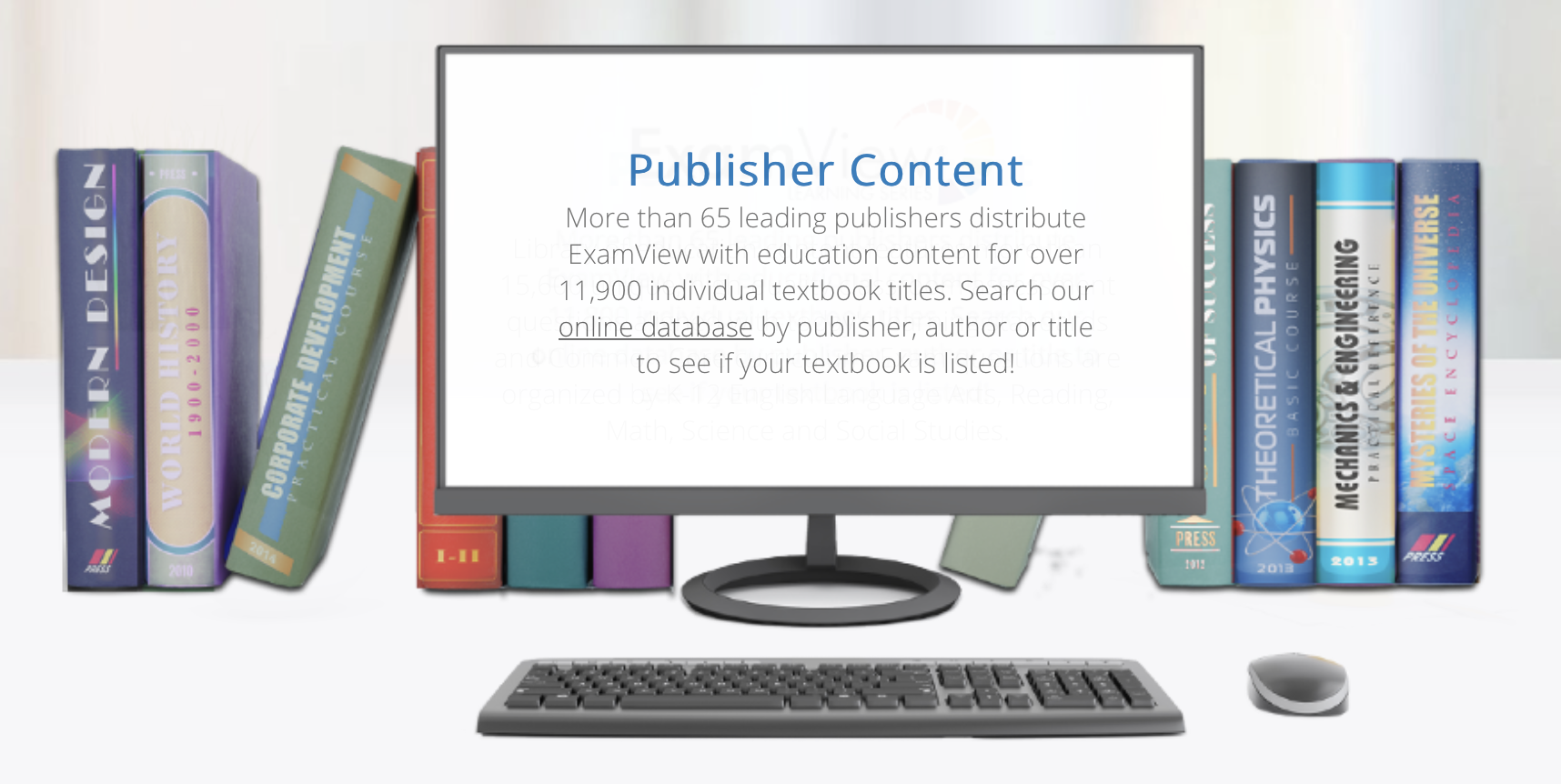 ExamView Publisher Created Content