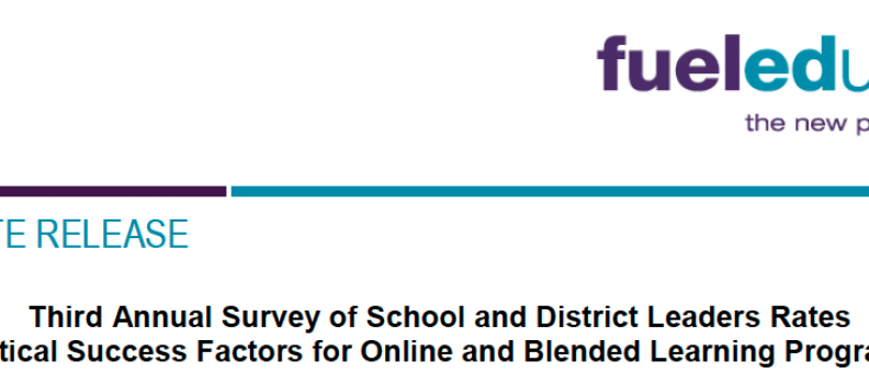 Annual survey of school leaders on digital learning