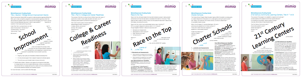 Mimio Funding Guides Download: Title I and more
